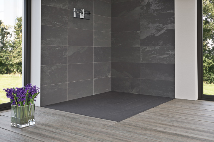 Slate Flat Standard Shower Tray by Matki
